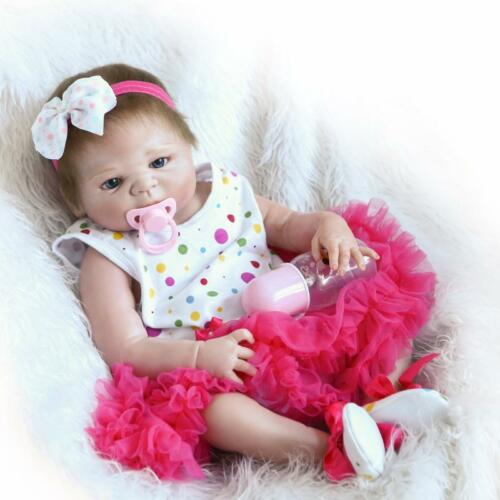 "Anatomically Correct 18/"" Reborn Baby Doll Girl Full Body Silicone Vinyl Kid Gift"
