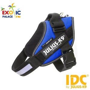 Harnais Julius-k9 Idc Powerharness Bleu Bleu Pour Chien En Nylon Résistant