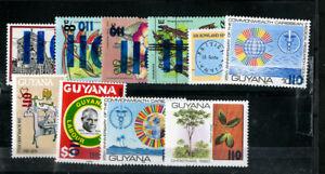 Guyana-Stamps-422-31-XF-OG-NH-Scott-Value-56-00