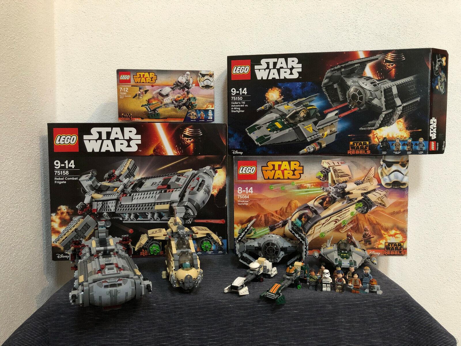 Lego Stern Wars Rebels Konvolut (75090, 75158, 75150, 75084) Beschreibung lesen