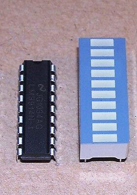 2 pcs LM3914 LED Bargraph Driver + 2 pcs 10-Segs LED Bargraph Tri-Color Fixed