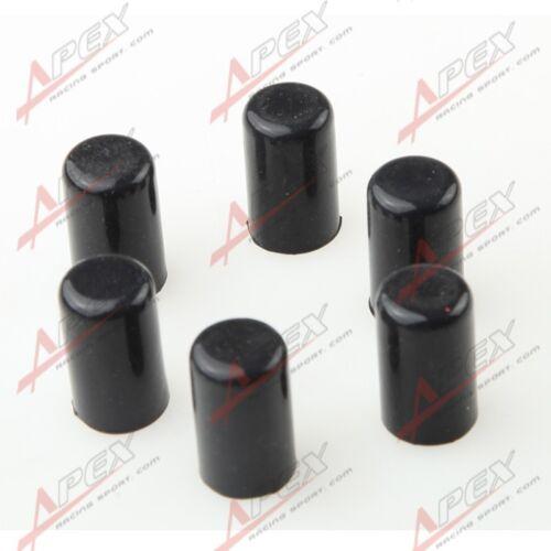 "6 x 8mm 5//16/"" Silicone Blanking Cap Intake Vacuum Hose End Bung Plug Caps Black"