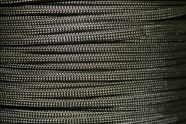 Dark Gray 550 Paracord Mil Spec Type III 7 strand parachute cord 10-100 ft