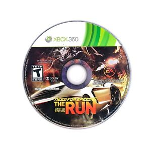 Need for Speed: The Run (Microsoft Xbox 360) Game DISC ONLY Tested & Working