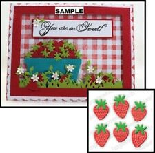 Impression Obsession SM STRAWBERRY BUNCH Thin Metal Cutting DIE DIE404-E Small