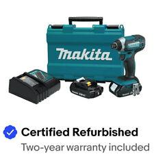 "Makita XDT11RR 18V 2 AH LI-ION 1/4"" HEX IMPACT DRIVER KIT Certified Refurbished"
