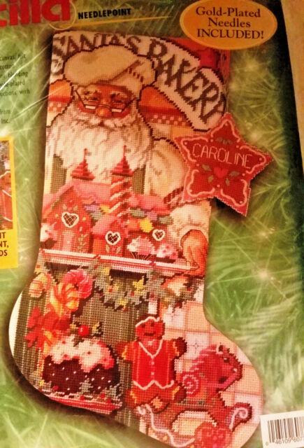 Bucilla 60772 Needlepoint BAKER SANTA Christmas Stocking Kit ~ Sealed ~ Rossi