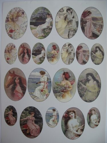 Cardstock or Vellum DMC13 10pk Debbi Moore Ladies Cameo Sheets Paper