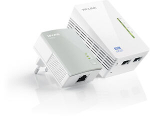 Powerline-TP-LINK-AV500-Wireless-N-300Mbps-con-2-porte-Ethernet-TL-WPA4220KIT