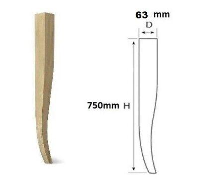 Gambe A Sciabola Per Tavoli.Gamba Gambe Legno Faggio Sciabola Per Tavolo Tavoli D 75 X H 750