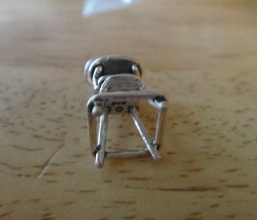 Sterling Silver 3D 20x9mm bébé chaise haute charme