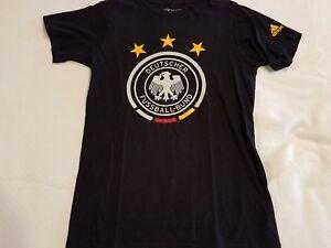 Details about Adidas Deutscher Fussball Bund Germany Soccer T Shirt Size S
