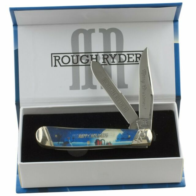 Rough Rider 2020 Merry Christmas Rough Rider RR1442 Merry Christmas Trapper Pocket Knife File Work
