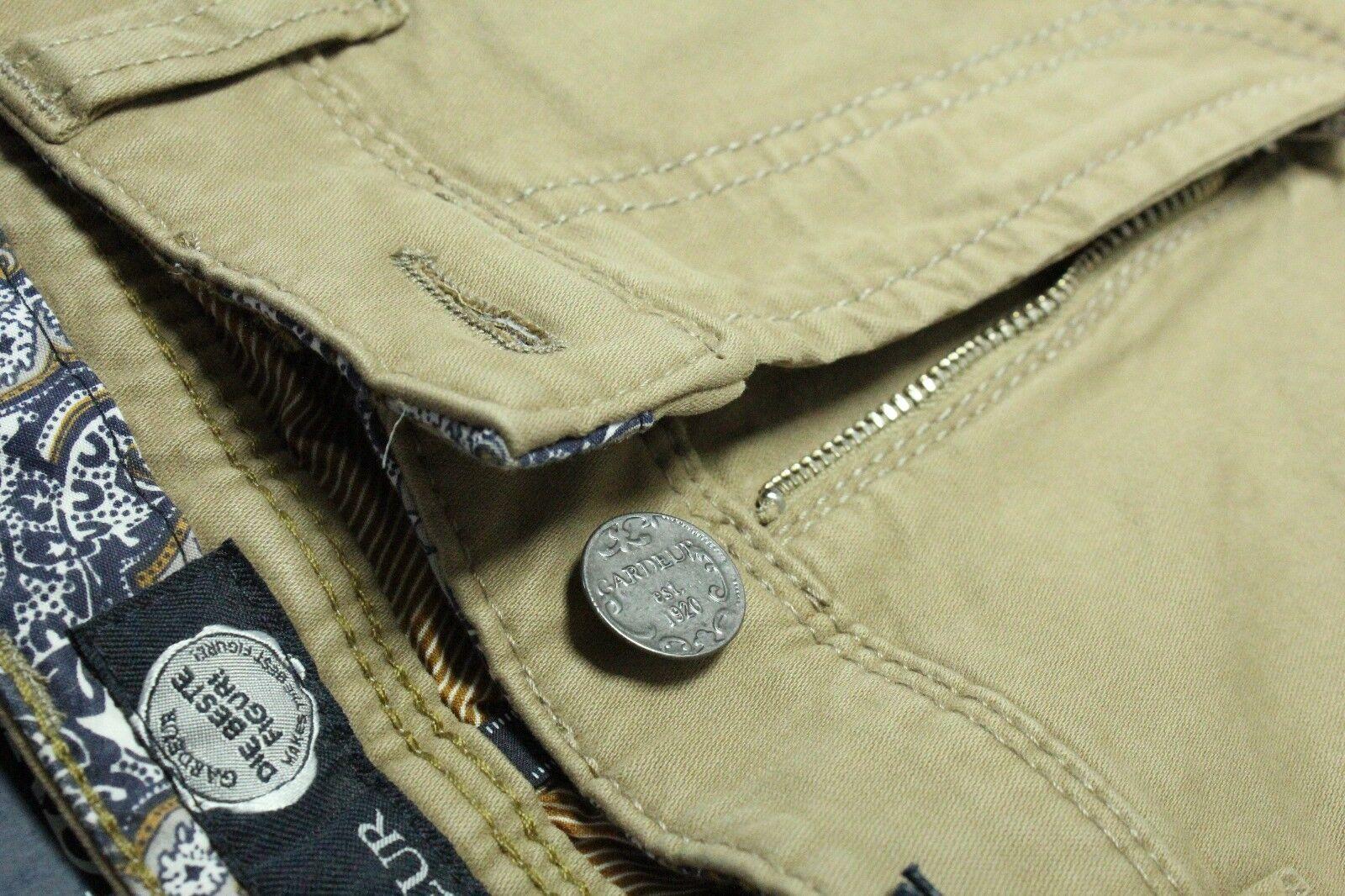 NEW DESIGNER JEANS GARDW 35W 36W Brown Pima Cotton FLEX NEVIO