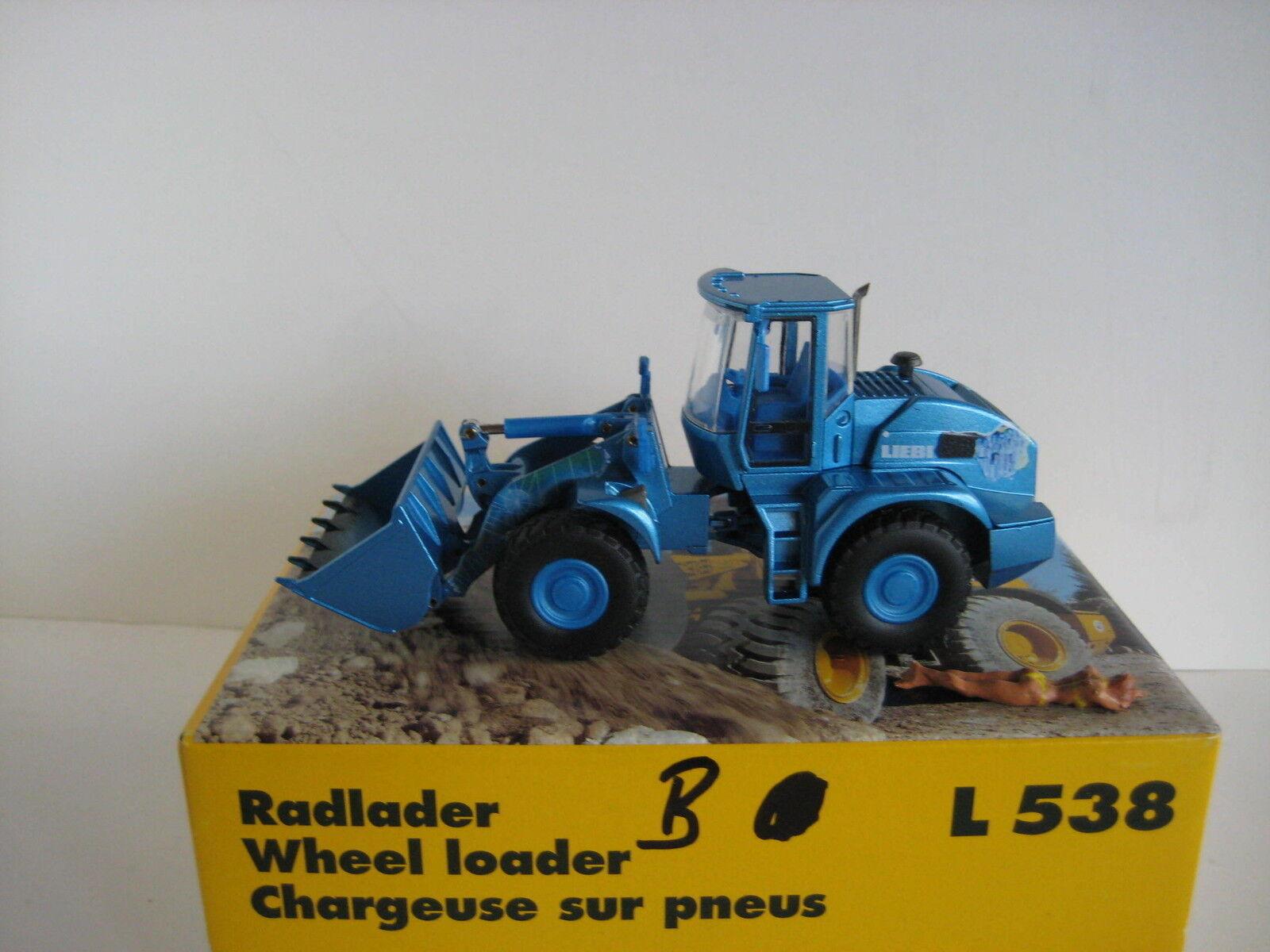 vendita calda online Liebherr L L L 538 cantiere blu  2435.2 Conrad 1 50 OVP  l'ultimo