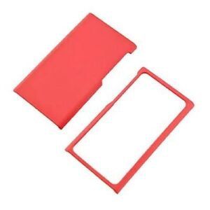 Red-Case-For-Apple-iPod-Nano-7-Hard-Rubberized-Snap-On-Phone-Cover