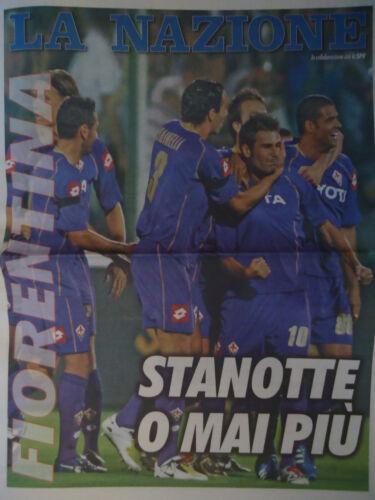 Programm La Nazione UEFA CL 2008//09 Fiorentina Bayern München