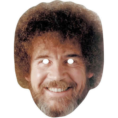 Masks Are Pre Cut The Joy Of Painting Bob Ross Celebrity Painter Card Mask