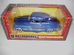 MOTOR-WORKS-1948-CHEVY-AEROSEDAN-FLEETLINE-DIE-CAST-CAR-1-24-SCALE-BLUE