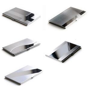 Details About Business Card Case Business Card Box Business Card Holder Metal Aluminium Silver New Show Original Title