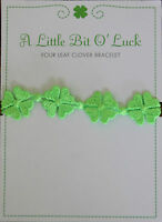 Four Leaf Clover Bracelet A Little bit of LUCK