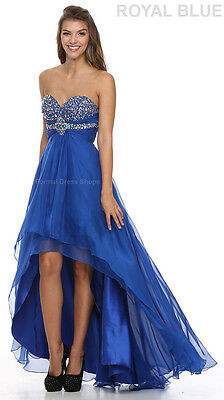 NEW ASYMMETRICAL HEM EVENING GOWN SWEET 16 DRESS WINTER FORMAL PROM DANCE PARTY