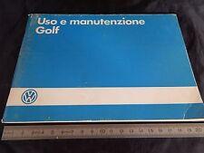 MANUALE USO MANUTENZIONE ORIGINALE VOLKSWAGEN GOLF 1986 - GTI 8V - 16V