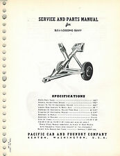 CARCO SLC SERIES 1 SENIOR LOG CART  SERVICE AND  PARTS  MANUAL