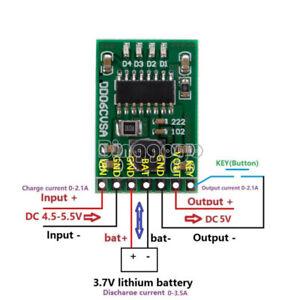 1PCS 5V 2.1A Charge Discharge Boost Protection 3.7V 4.2V Battery DC-DC UPS