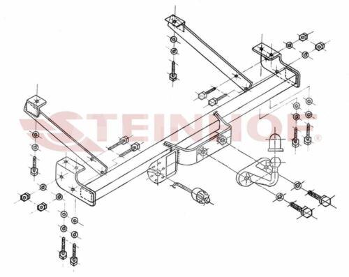 Für Opel Vivaro 01-14 Kpl Anhängerkupplung starr+ES 13p uni AHK