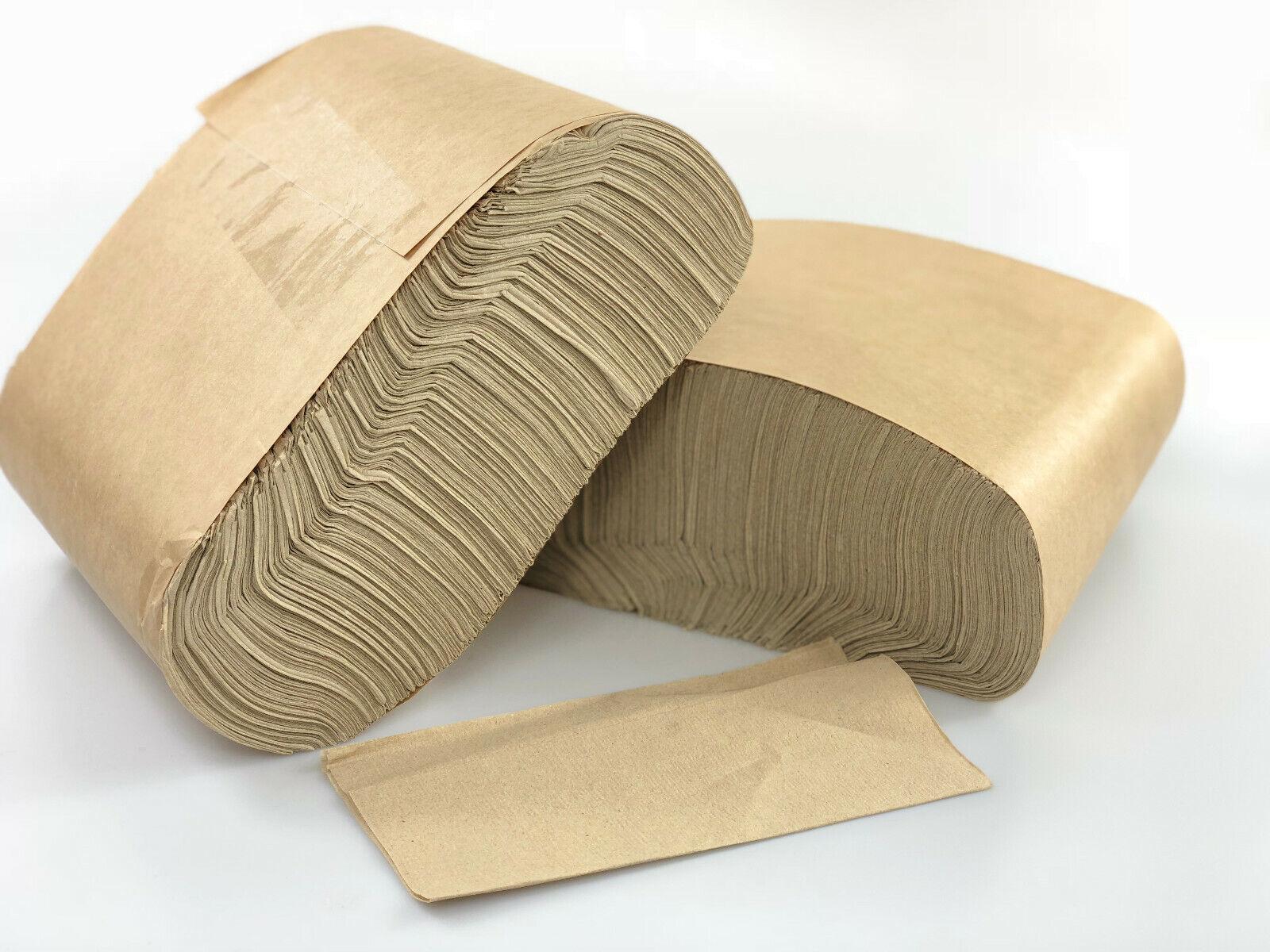 Cas de 6000 compostables écrus Recyclé Kraft serviette - 1 plis