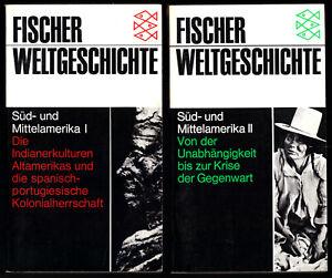 Fischer-Weltgeschichte-Sued-und-Mittelamerika-Band-I-und-II-1989-90