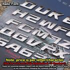 Universal Chrome Letter Alphabets 3D Car Badge Sticker Decal Emblem Trunk Side