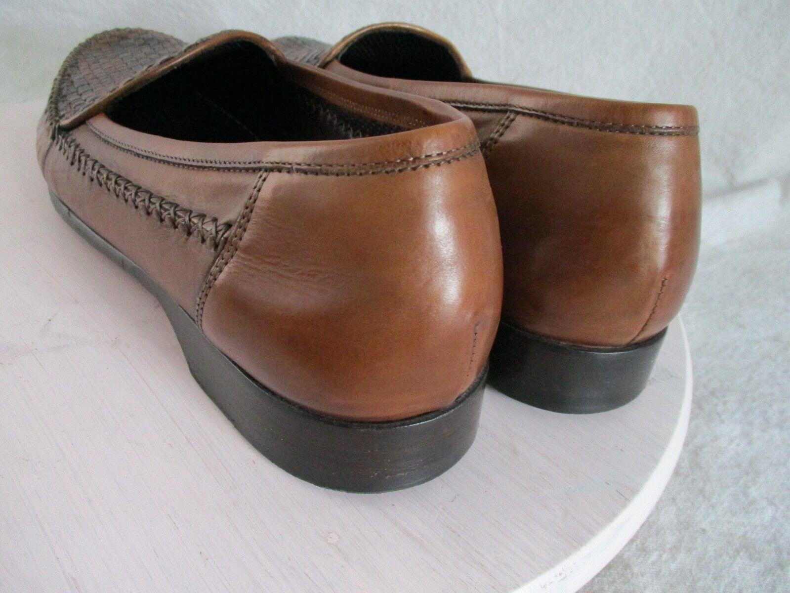 Bragano authentic rare brown black woven leather … - image 2