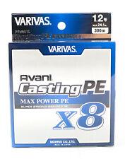 5769 Varivas P.E Ligne Seabass Max Power X8 Silver 150m P.E 1.2 24.1lb