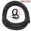 Negro 6M Push-En el borde de la puerta de coche Burlete Sello Gap Tira Goma Accesorios