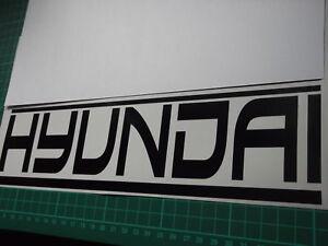 HYUNDAI panel skirt car vinyl sticker decal x2