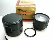 Vintage NEW NOS STAR-D GOLD LINE Video Lens 2.0 x TELEPHOTO w/Adapter & Case