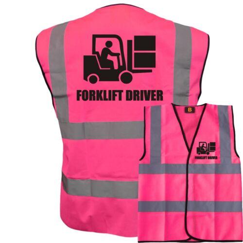 HI VIZ VIS FORKLIFT DRIVER KIDS VEST FANCY DRESS JOKE CUSTOM WAISTCOAT CHILD