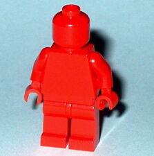 STATUE MINIFIG Lego Solid-Plain RED NEW V.I.P. MAN (Genuine Lego) Monochrome