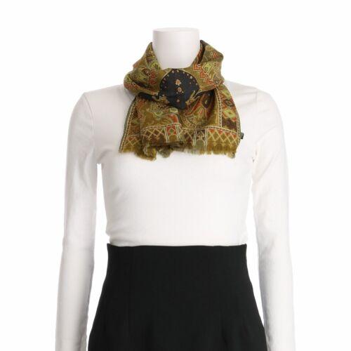 Auth ETRO Multi Wool 58% Silk 42% Scarf