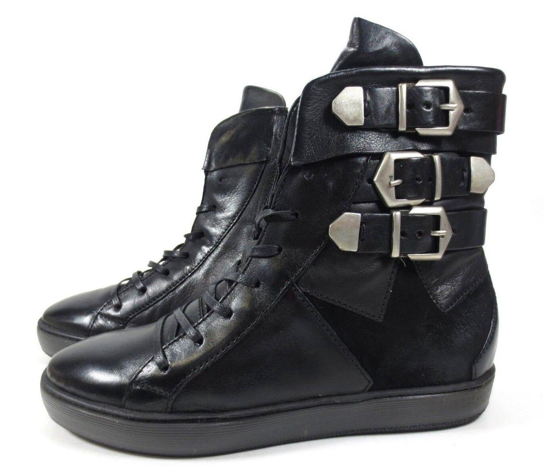 Arizona Edel cortos botas de plataforma botines de de de cuero Nappa talla 40 nuevo 1bda55
