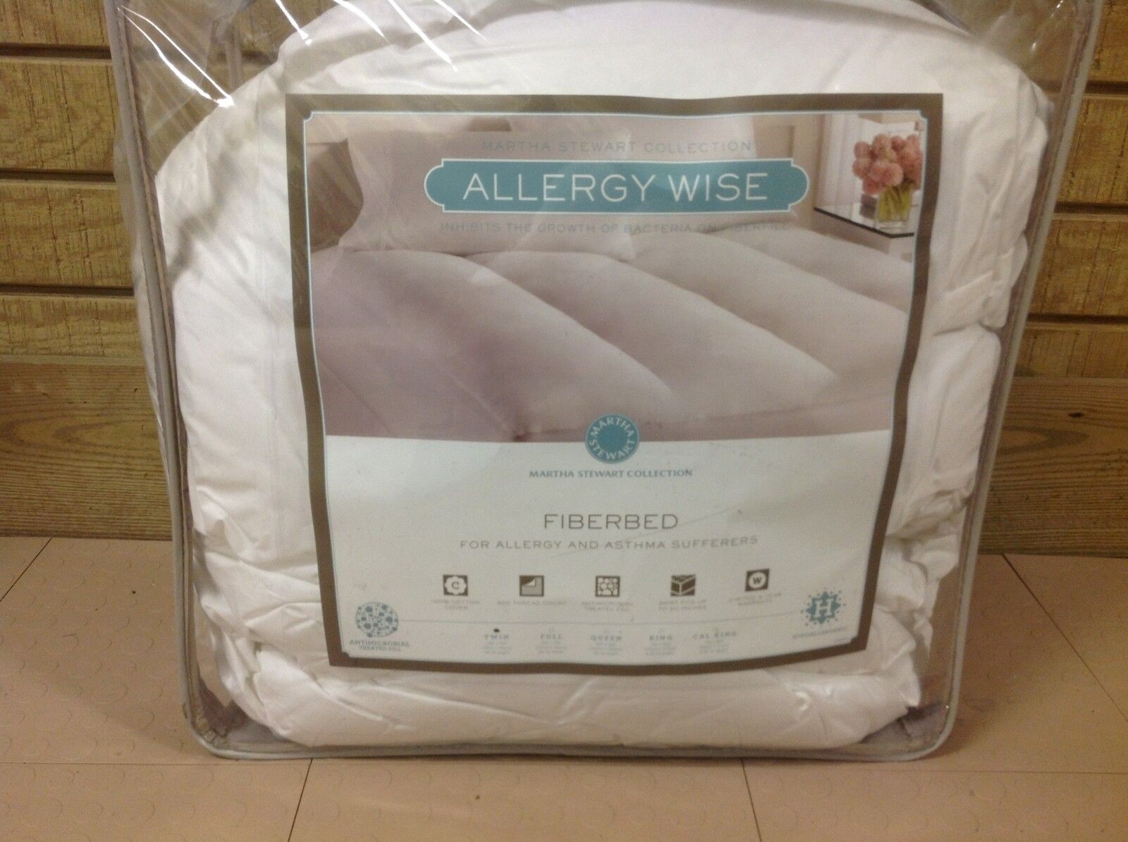 Martha Stewart Collection Fiberbed Allergy Asthma Sufferers Twin Fiberfill New