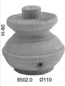 Möbelfuß Tanne D.85-H.90mm geschliffen unbehandelt fertig zum bearbeiten