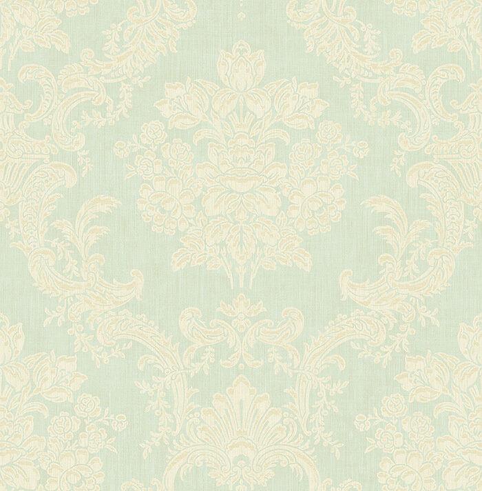 Tapete, Designtapete, Struktur, Ornamente, Mintgrün, Ecru, Gold, Luxus, edel