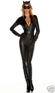 Sexy-Fierce-Feline-Cat-Black-Textured-Catwoman-Catsuit-Jumpsuit-Costume-5pc