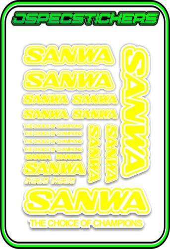 SANWA RC RADIO CONTROL STICKERS MT4 M12 SERVO RX TX CAR BUGGY NITRO GREY BLACK
