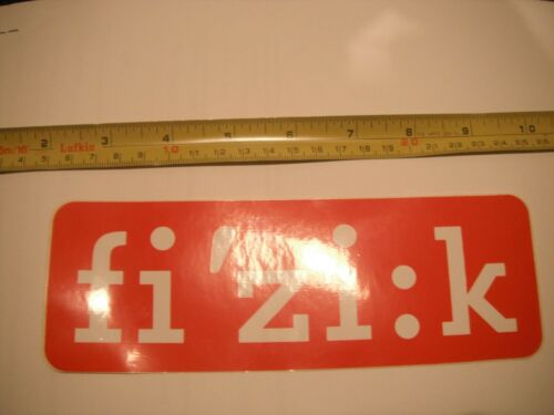 "Fizik Fi/'zi:k Seat Saddle Bicycle Bike Decal Sticker Original 7.75/"" Free Ship!!"