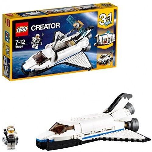 LEGO SPACE SHUTTLE Kid giocattolo bambini Explorer regalo di costruzione Aereo Pilota Build