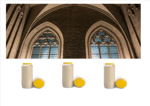 Anglican Votive Catholic WHITE Church Candle Sanctuary Lamps 7 Days Set of 3